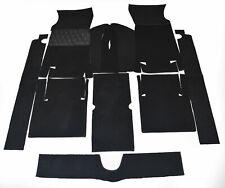 Black Velours Carpet Set for Fiat 124 Sport Coupe 1967-1972 Carpet Kit