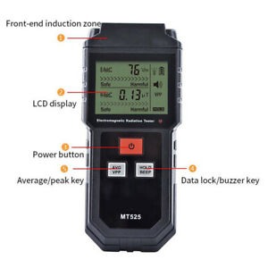 EMF Electromagnetic Radiation Tester Meter Geiger Counter Electric Double