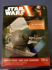 Nuevo: Disney Star Wars Estrella De La Muerte USB Cargador De Coche-Nuevo Envío Rápido!!!