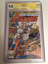 CGC 9.8 SS Avengers #195 signed by Michelinie, Perez, Salicrup, Lee & Shooter