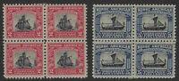 US Stamps - Scott # 620 & 621 - Blocks of 4 - Mint Hinged                (H-507)
