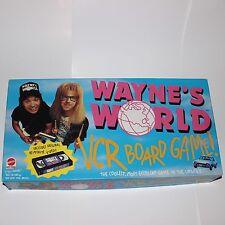 Waynes World 1992 VCR Board Game Mattel Complete Unplayed Paramount Retro 90s