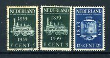 NEDERLAND 325/326 gestempeld 1939 - 100 jaar spoorwegen in Nederland