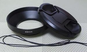 49 mm Metal Camera Lens Hood + 72mm Cap for Wide Angle Lens 49WC72