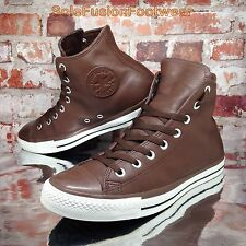Converse Mens All Star Leather Shoes Brown size 9 High Top Chuck Taylor EU 42.5