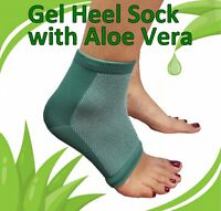 Heel Protection Support Sock with Embedded Aloe Vera - Gel Foot Feet Pain Injury