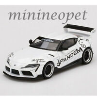 MINI GT MGT00180 TOYOTA GR SUPRA V1.0 1/64 PANDEM DIECAST MODEL CAR WHITE