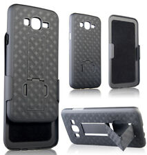 BLACK KICKSTAND CASE COVER BELT CLIP HOLSTER STAND FOR SAMSUNG GALAXY AMP PRIME