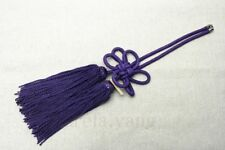 1Pcs Car Rearview Mirror Charms Good Luck Purple Chinese Knot Hang Vip Gift