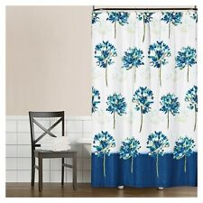 Blue Medley Floral Fabric Shower Curtain Saturday Knight NEW