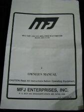 MFJ VHF 144-220 MHz SWR Wattmeter Model MFJ-812B Instruction Manual