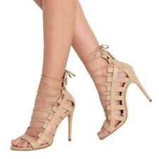 596ad8805b5e8 Aquazzura Amazon 105 Nude Leather Stiletto PUMPS Shoes Size 40 Retail