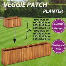 vidaXL Solid Acacia Wood Garden Planter Backyard Pot Flower Box Multi Sizes