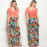 NWT Medium Women's Floral Maxi Dress Summer Boutique Top