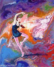 Ballerina, Summer Story (i), Original Acrylic Abstract Painting, Artist Signed