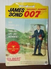 JAMES BOND vintage 1965 Gilbert figures M carded rare sean connery