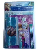 Disney Frozen Elsa & Anna 11 Piece School Supply Stationary Set New