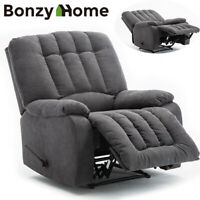Oversize Recliner Chair Heavy Duty Frame High Back Overstuffed Wide Padded Seat