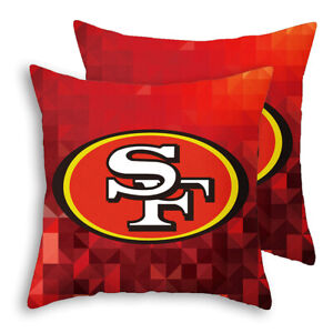 """San Francisco 49ers Throw Concord Covers 2 Pack 18"""" x 18"""""""