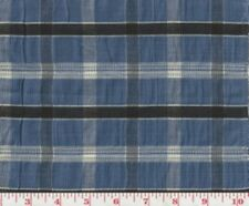 Overstock Blue Plaid Drapery Upholstery Fabric by Fabricut Faringdon CL Atlantis
