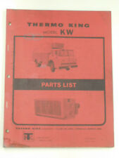 THERMO KING Model KW Factory PARTS LIST MANUAL #TK 3900 (4-65)