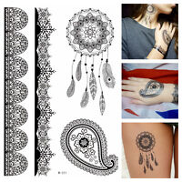 Temporary Tattoos schwarz Dreamcatcher Tribals Ornamente Flash Tattoo W-311