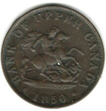 (Pgasteelers 1) Canada Province 1850 BR#720 1/2 Penny copper St.George & Dragon