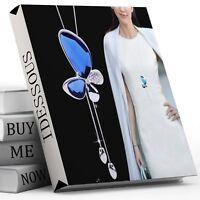 Damen Halskette Schmuck Collier Silber lang 75cm Kette Schmetterling Frauen M10