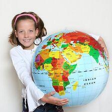 """GLOBE* Big 20"""" Inflatable World Globe #76000  ~Tedco Toys"""