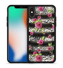 Pink Floral Roses Leaves Zebra Leopard Shelves Camo Pattern Phone Case Cover