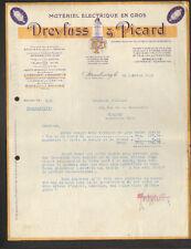 """STRASBOURG (67) MATERIEL ELECTRIQUE & AMPOULES LAMPE """"DREYFUSS & PICARD"""" en 1931"""