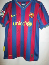 Barcelona 2009-2010 Squad Signed Home Football Shirt with our COA