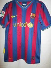 Barcelona 2009-2010 Squad Firmado Home Football Shirt con nuestro certificado de autenticidad
