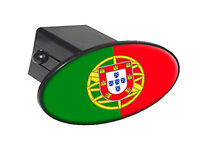 "Portugal Country Flag - 2"" Tow Trailer Hitch Cover Plug Insert"
