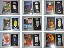 CINE TERROR Y CIENCIA FICCION - VHS ESPAÑOL - CLASICOS AÑOS 80 Y 90