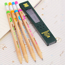 1 Set Cute Automatic Mechanical Pencil and Pencil Cores Stationery Random Color