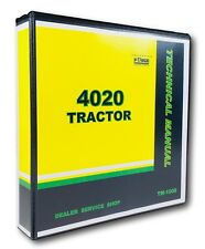 4020 John Deere Tractor Technical Service Shop Repair Manual TM-1006