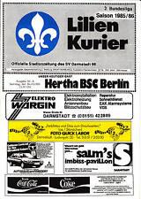 II BL 85/86 SV Darmstadt 98 - Hertha BSC Berlin, 26.10.1985