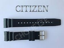 Genuine Citizen 23mm Black Rubber Watch Band for Eco-Drive Promaster BN0100-00E
