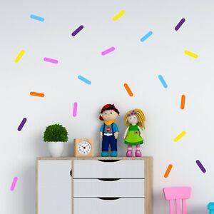 x 250 Sprinkle Wall Art Stickers Children's Bedroom Decal