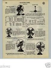 "1932 PAPER AD Century Polar Cub Electric Fan Fans 10"" Oscillating Desk Aero"