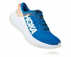 Hoka One One Men's Carbon X Running Shoe, Sizes Imperial Blue / White