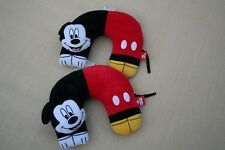 "Set of TWO Disney Mickey Mouse 3D Character Travel Pillow 11"" X 12"""