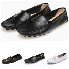 Mens Slip On Loafers Casual Leather Flat Driving Moccasins Shoes Pumps Leisure