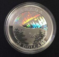 2004 Canada $20 Fine Silver Coin - The Northern Lights - Aurora Borealis