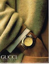 PUBLICITE ADVERTISING 094  1991  GUCCI   montres homme