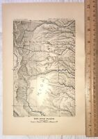 1899 Geological Map Of The Western United States High Plains, Ship Free