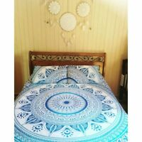 Indian Pink Purple Mandala Tapestry Wall Hanging Hippie Queen Size Bedding Throw