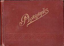 Vintage 19th-Century UK Camera Club Photo Album Albumen Photos Coastal England