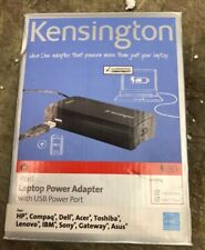 NEW IN BOX: KENSINGTON WALL LAPTOP POWER ADAPTER. USB POWER PORT, CABLE, TIPS.